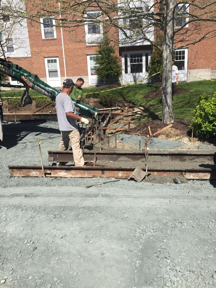 frederick concrete pouring