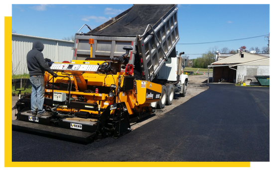laying-asphalt-overlay in frederick
