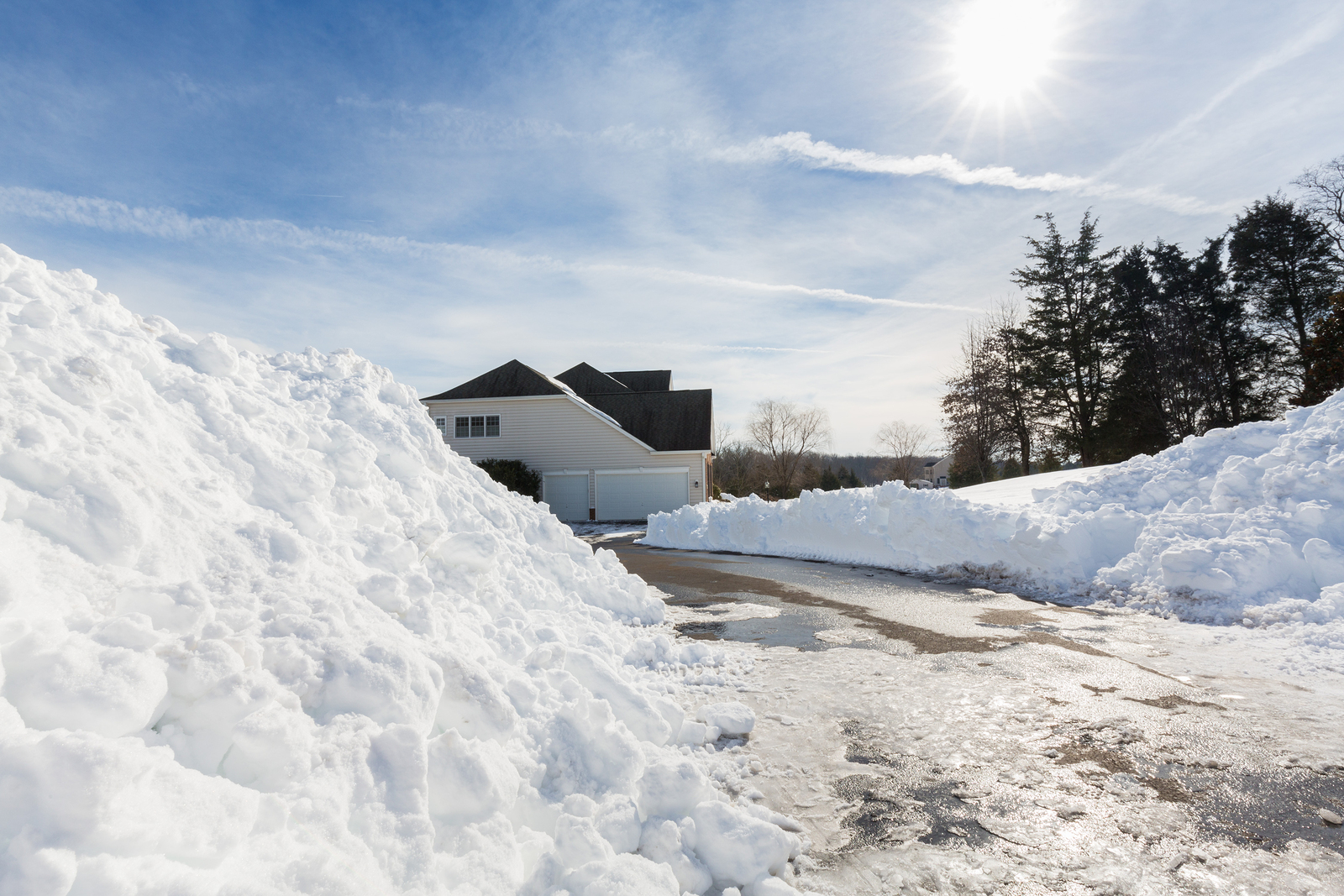 driveway snow clearing and removal frederick md