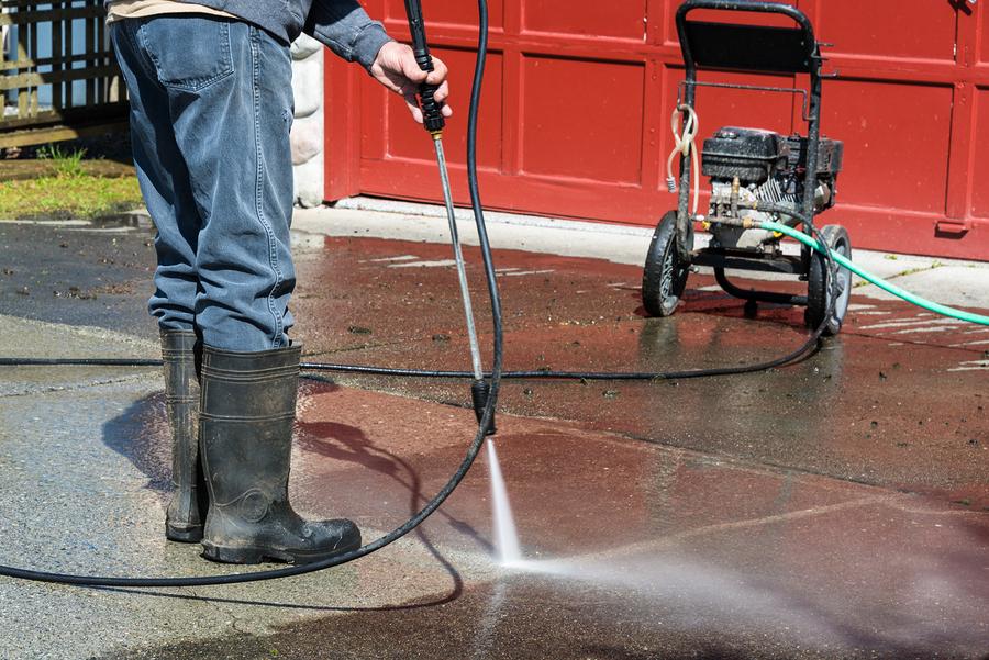 clean a concrete driveway