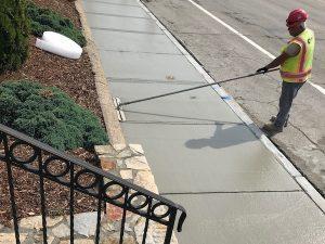 commercial sidewalk and curbing repairs