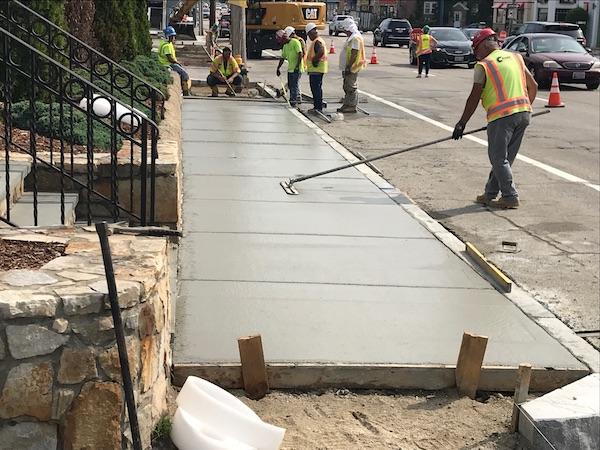 city sidewalks and curbing repair