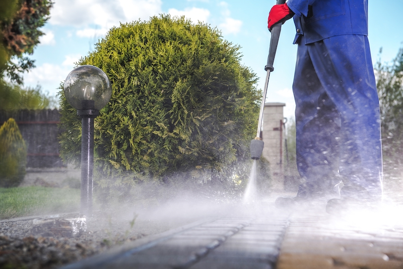 pressure wash your driveway this summer
