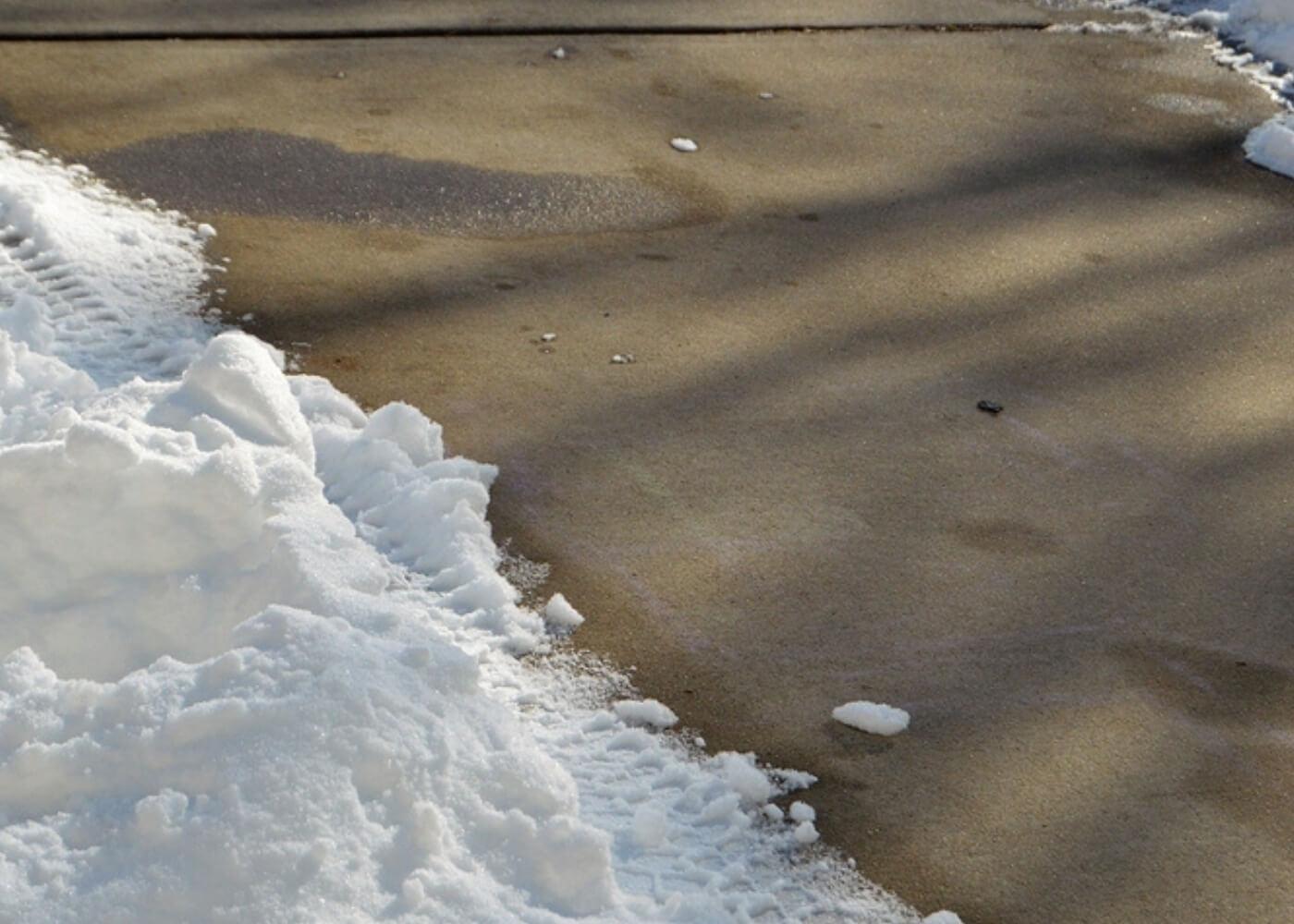 heat driveway clearing in winter