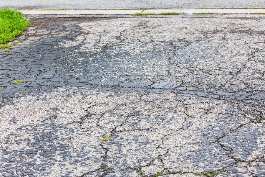 old driveway asphalt