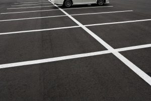 resurfaced asphalt parking lots
