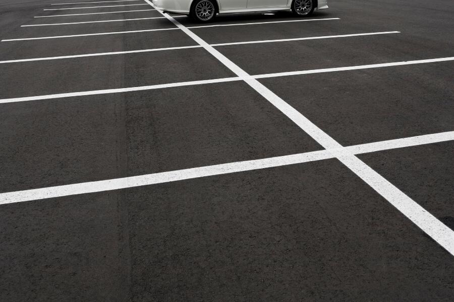 resurfaced asphalt parking lots