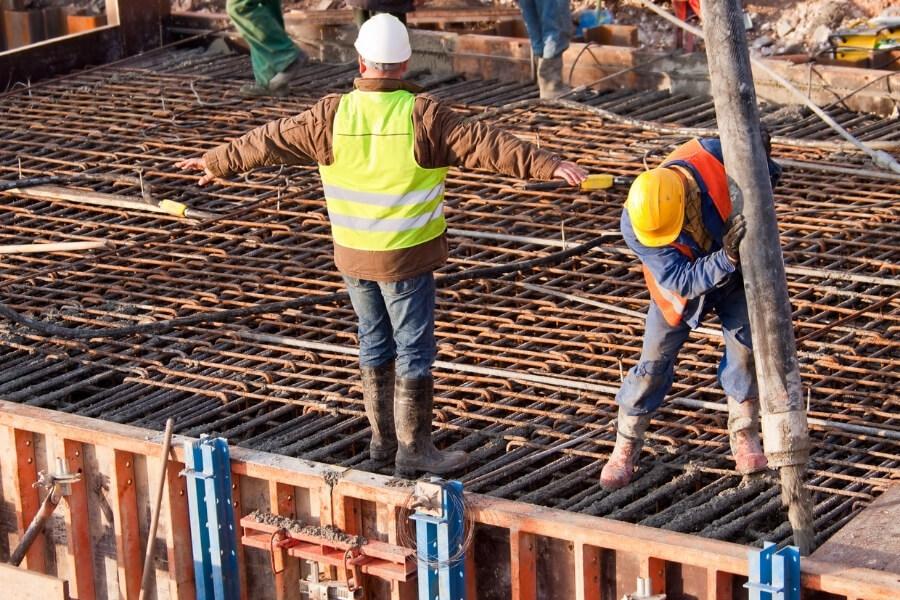rebar and concrete construction
