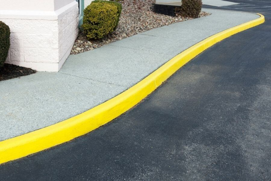 colorful extruded curb