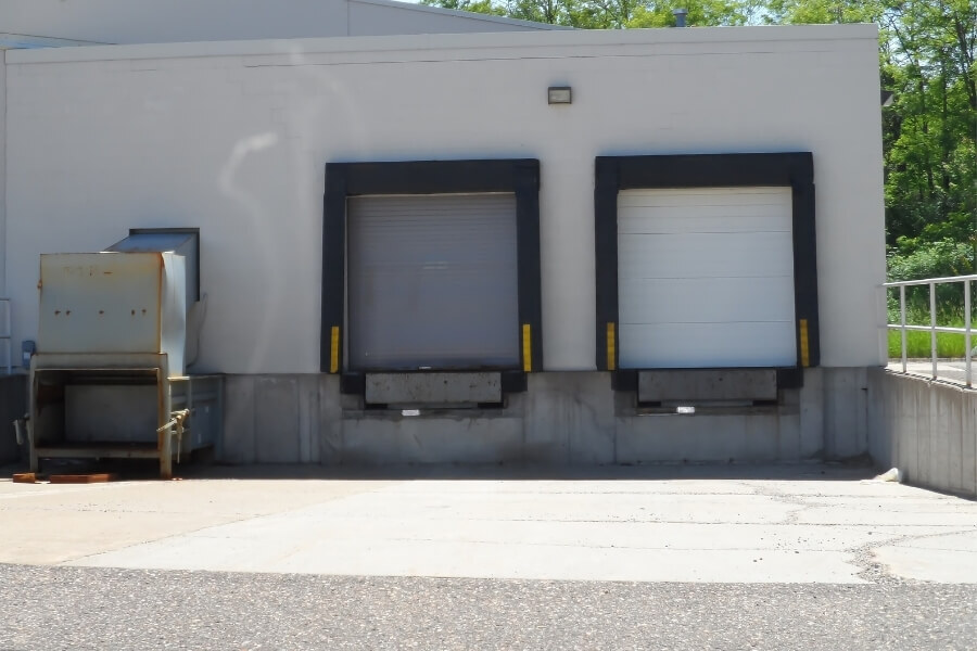 concrete freight loading dock