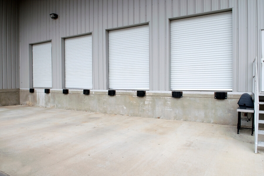 concrete loading bays