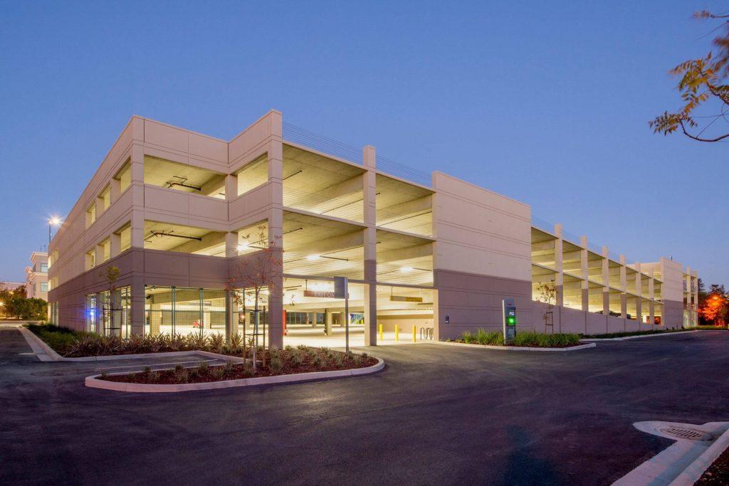 multi level parking garage