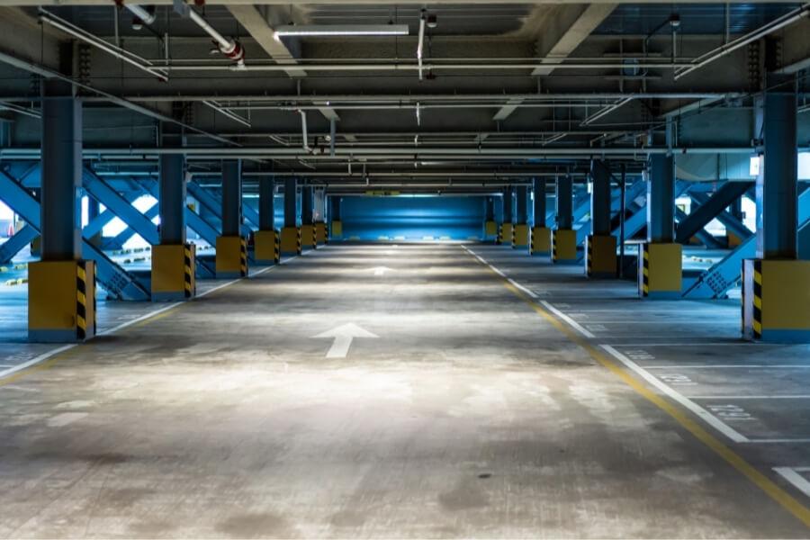 Sealed Parking Lot