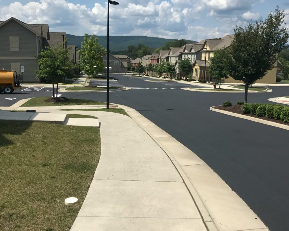 residential area concrete curb construction by Limitless Paving & Concrete